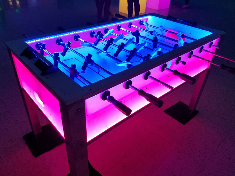LED Foosball Table LED Glow Foosball Glow Party Pros - Foosball table light